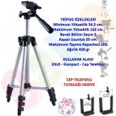 Nikon D810 Fotoğraf Makinesi İçin 102cm Profesyonel Tripod 2kg