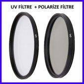 Nikon 18 55mm Lensler İçin 52mm Uv Filtre + Cpl Polarize Filtre