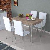 Masa Sandalye Takımı Eko Takım Beyaz
