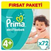Prima Bebek Bezi Aktif Bebek Fırsat Paketi 4+ Beden 72 Adet
