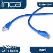 ınca Icat6 10m Cat6 1 Metre Mavi