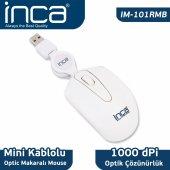 ınca Im 101rmb Usb Minimakaralı Mouse Beyaz