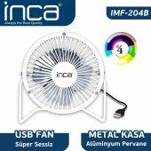 ınca Imf 204b Masaüstü Metal Fan + Alüminyum Pervane Beyaz 4