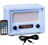 Nostaljik Radyo Uzaktan Kumandalı Mavi Renk