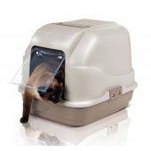 ımac Kapalı Kedi Tuvaleti Plastik Kum Kürekli Bej Kedi Tuvaleti