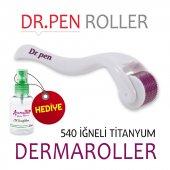 Dr.pen Mor Dermaroller 1.kalite Titanyum 540 İğnel...