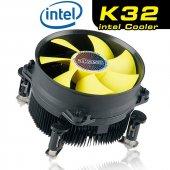 Akasa K32 Intel Lga 775 1151 1155 1156 Performans Cpu Sogutucu (A