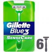 Gillette Blue3 Sensecare Kullan At Tıraş Bıçağı 6lı