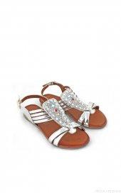 Mosimoso Gümüş Renk Taşlı Sandalet