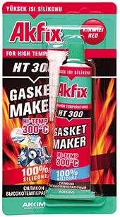 Akfix Ht300 Yüksek Isı Silikonu 50ml 75gr