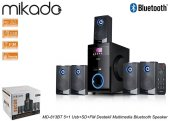 Mikado Md 813bt 5+1 Usb+sd+fm Destekli Multimedia Bluetooth 5+1 Ev Ses Sistemi