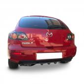 Mazda 3 Egzoz Görünümlü Arka Tampon Eki Difüzör (Plastik)