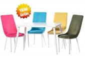 Teknoset Silver Serisi Beyaz Mutfak Masa Sandalye Takımı