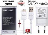 Samsung Galaxy Note 3 Orjinal Batarya + Şarj Aleti Cihazı 3.0 Usb