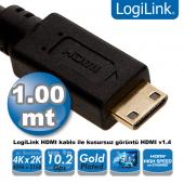 Logilink Ch0021 Hdmı To Mini Hdmı Kablo V1.4, 1.0m