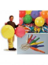 Lastikli Punc Balon 50 Adet