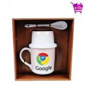 Google Chrome Logolu Kupa Bardak & Çerez Takımı