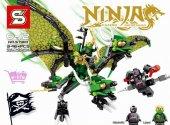 Sy 810 Nınja Lego Seti Sihirli Kanatlı Ejderha Dev Boy