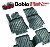 Fiat Doblo Siyah 3d Havuzlu Paspas 2010 2015 Arası