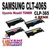 Samsung Clp 365 Clx 3305 4 Renk Muadil Toner 406s
