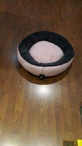 Bedspet Simit Kedi Köpek Yatağı Toz Pembe Antrasit