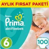 Prima Bebek Bezi Aktif Bebek Aylık Fırsat Paketi 6 Beden 100 Adet