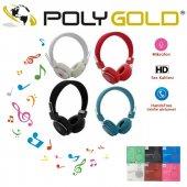 Polygold Pg 6485 Kırmızı Tek Jaklı Mikrofonlu Kulaklık Tel Uyumlu