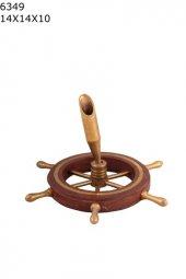 Kalemlik Gemi Dümeni Şeklinde, Şık, Dekoratif, Denizcilere Hediye, Şık, Dekoraatif