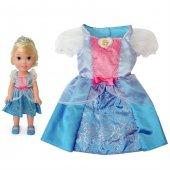 Disney Prenses Cinderella Kostümlü Ve Bebek Seti 2 4 Yaş
