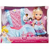 Disney Prenses Cinderella Kostümlü Ve Bebek Seti