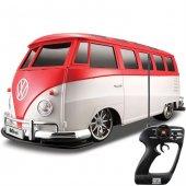 Maisto Tech 1 10 Volkswagen Van Samba U K Araba Kırmızı
