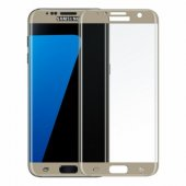 Samsung Galaxy S7 Edge Kavisli Cam Ekran Koruyucu Gold