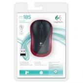 Logitech M185 Kablosuz Mouse Kırmızı 910 002237