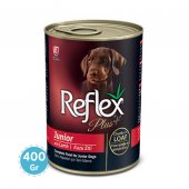 Reflex Plus Kuzu Etli Ezme Yavru Köpek Konservesi 400 Gr