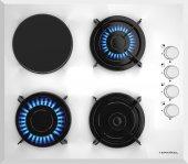 Termikel Bh P6334 W Bir Gözü Elektrikli Ankastre Gazlı Cam Ocak