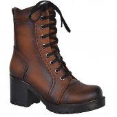 Nstep 4098 Zn Bağcıklı Fermuarlı Termal Kürk Bayan Bot Ayakkabı