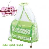Happy Baby Class Desenli Ninni Beşik (Yeşil)