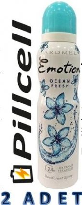 Emotion Ocean Fresh Women Deo 150 Ml * 2 Adet