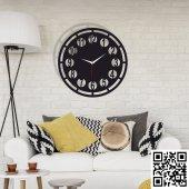 Dekoratif Ahşap Duvar Saati 070