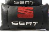 Seat Boyun Yastığı Deri Lüks 2 Adet Terletmez Fermuarlı