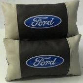 Ford Boyun Yastığı Deri Lüks 2 Adet Terletmez Fermuarlı