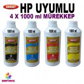 Hp 950, Hp 951 Uyumlu 4 Renk Pigment Mürekkep 4x1litre