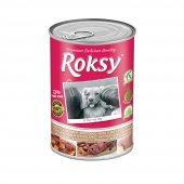 Roksy Hindili & Ciğerli Köpek Konservesi 415 Gr (72 Et Oranı)