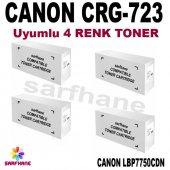 Canon Lbp7750cdn Uyumlu 4 Renk Toner Crg723