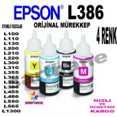 Epson L386 L486 Orjinal Mürekkep 4 Renk