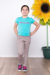 Ottomama Kız Çocuk Dijital Çiçek Baskılı Pantolon
