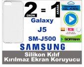 Samsung J5 Silikon Kılıf+kırılmaz Ekran Koruyucu