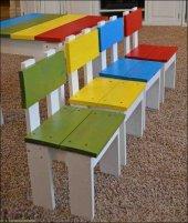 çocuk Sandalyesi Rengarenk 1adet Tekli Satış