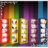 Rengarenk Kitaplık 5 Raflı Tekli Satış