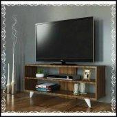 Dekoratif Tv Sehpası Ceviz Renk